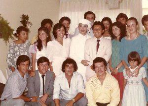 El 28 de junio de 1986 fuiste nuestra madrina de matrimonio; aquella mañana reíamos, hoy en esta tarde con mi esposa Alba Jenny, lloramos.